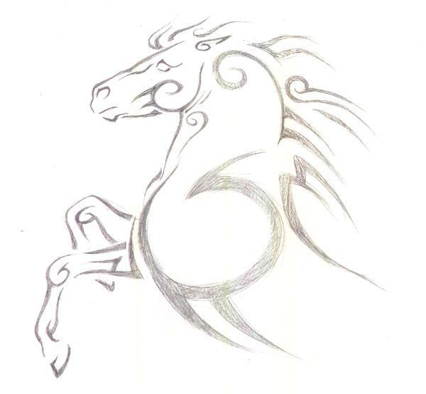 Wallpapers Tribal Animals Animal Tattoo 1024x1024: Tribal Horse By Utlah On DeviantArt