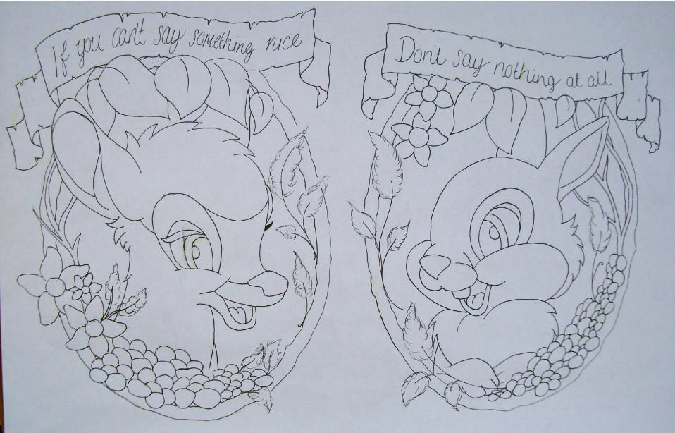 Bambi/Thumper Quote (Unfinished