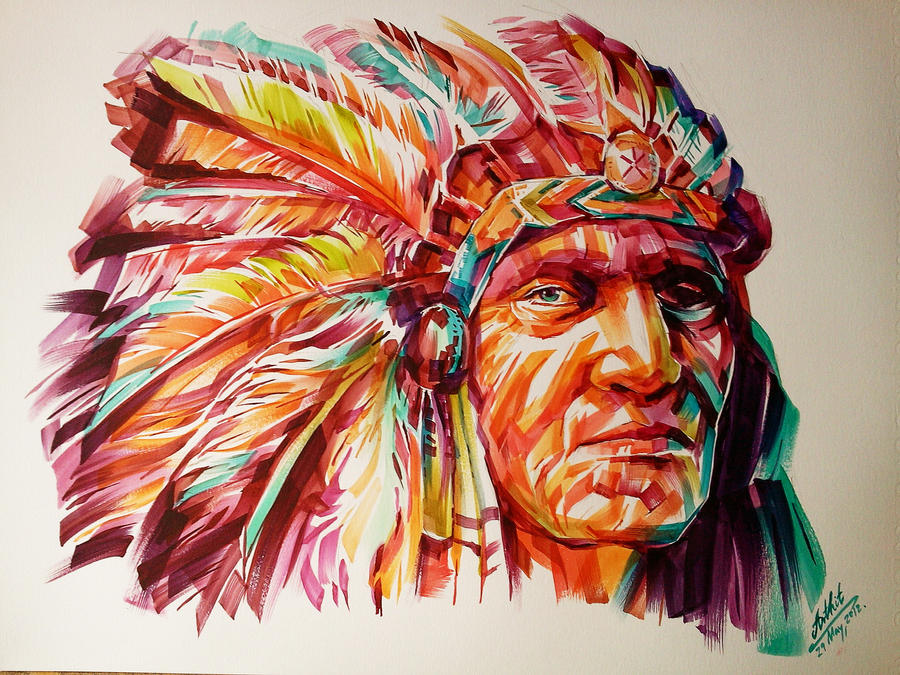 Black Foot Red Indian by  Indian