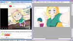 [STFOEFANART]Star Butterfly and Innocent Marco WIP