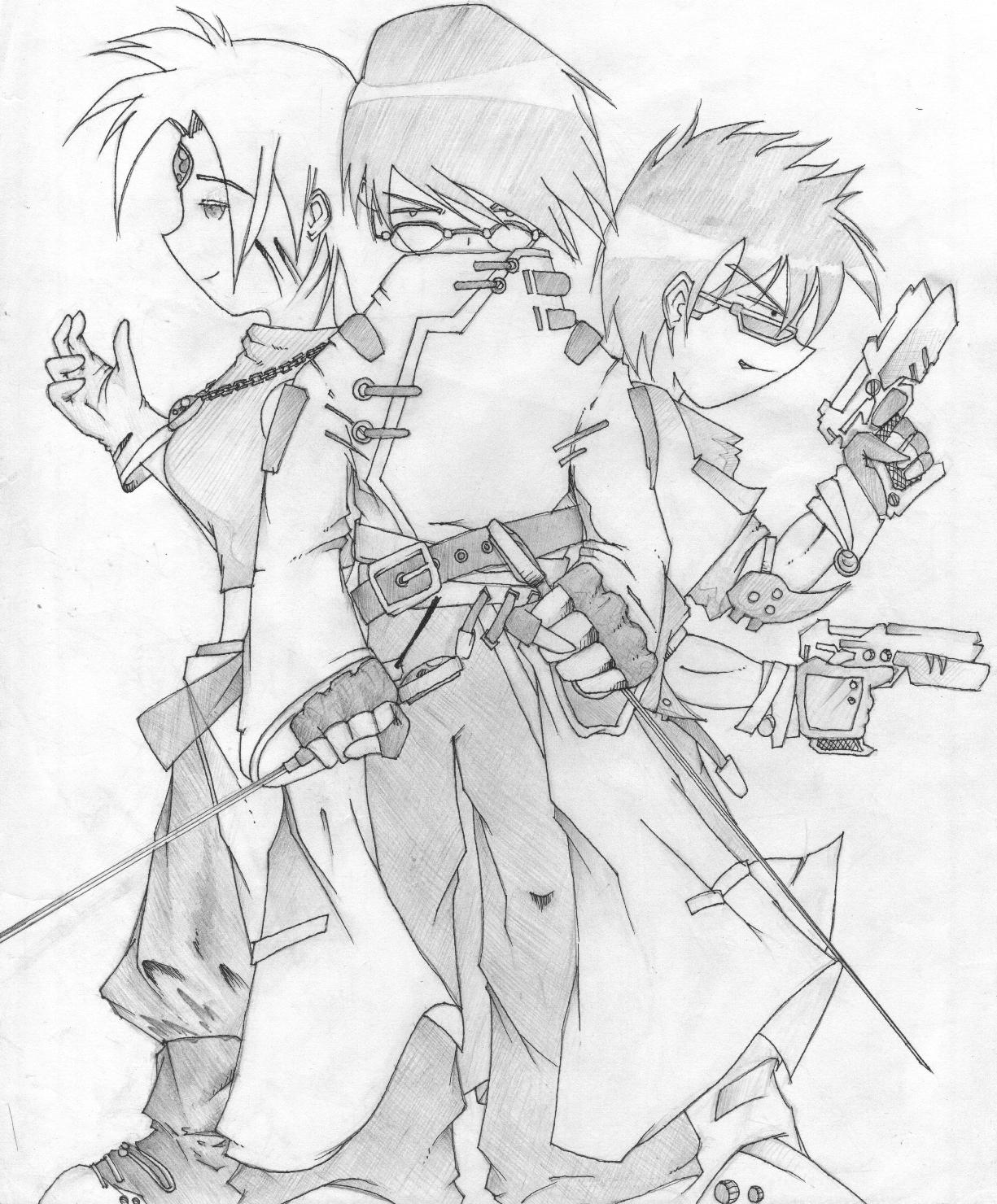 JnK - Niel, Ken, and Iris by SilentHaze