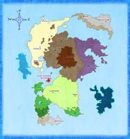 LunA Klastradia World Map by oOToetjeOo