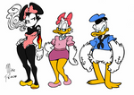 Minnie, Daisy and Donald