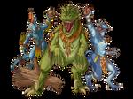 Lizardmen from Total War: Warhammer II (Colored)