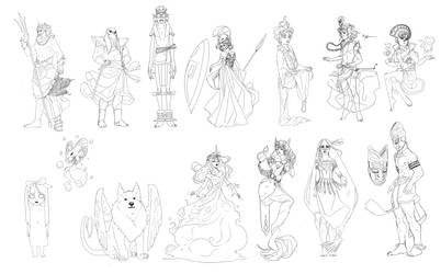 Fairy designs for Briar Rose by ileWolf
