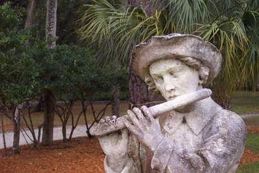 Flute Player Statue by LinwoodStock