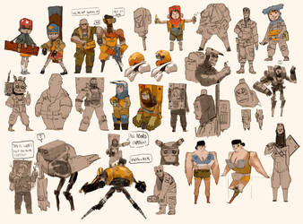 character research by Zedig