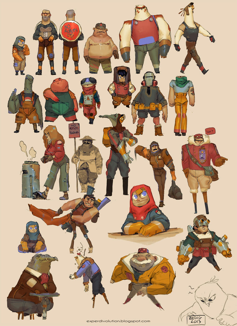 Character Design Styles Pdf : Character research by zedig on deviantart