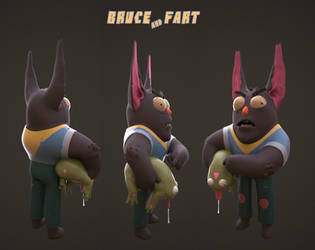 Bruce and Fart by Zedig