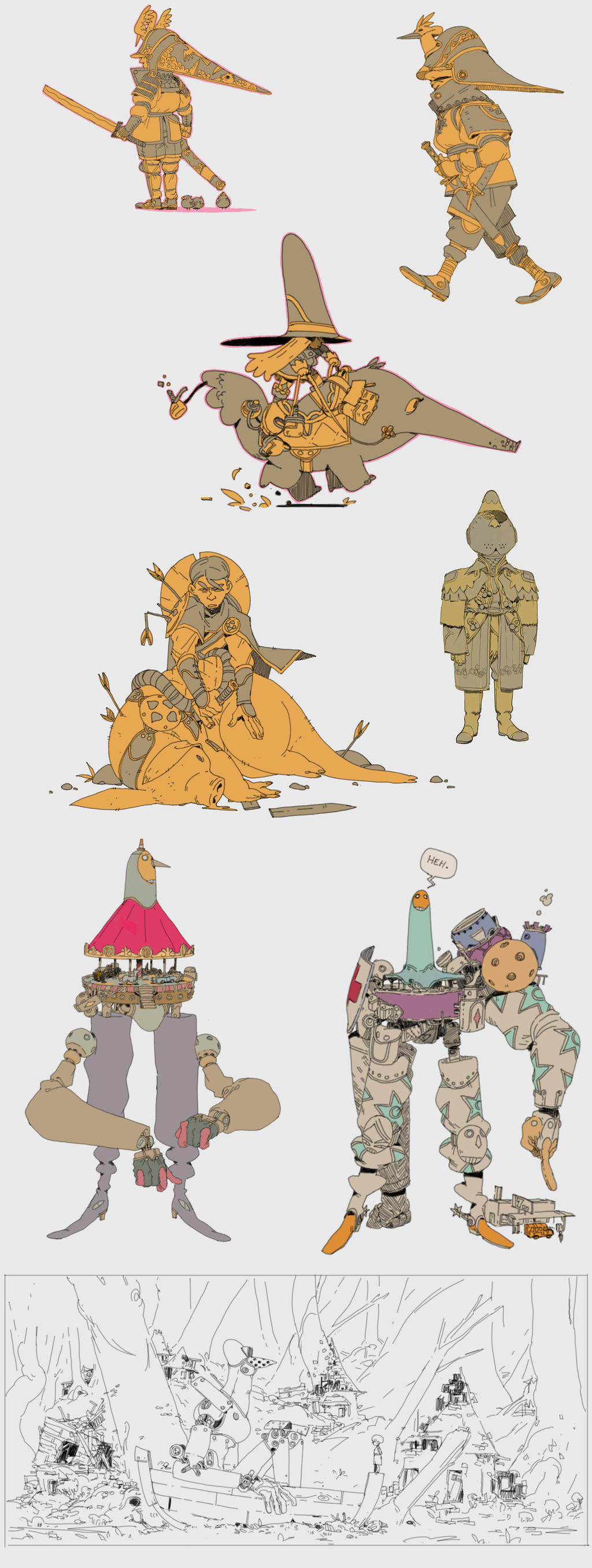 some sketches by Zedig