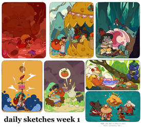 daily sketches week 1