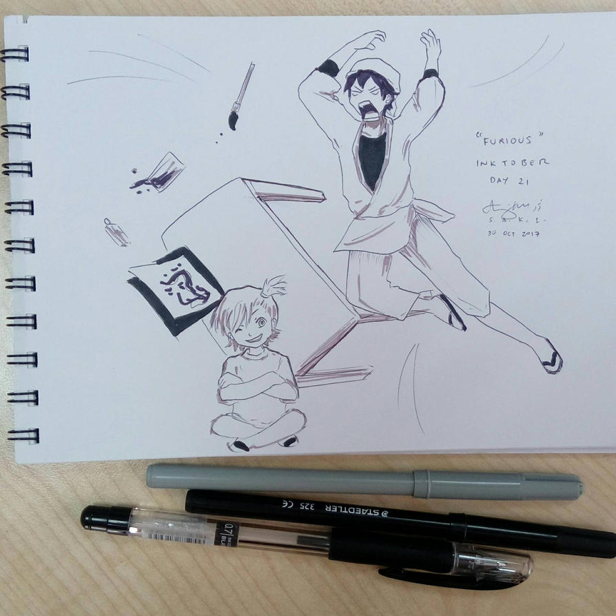 D21 Inktober: Furious by sakijane