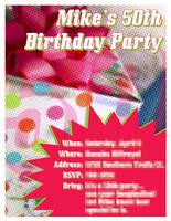 50th Birthday Invitation by tsumetai