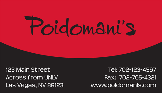 Poidomani's Business Card by tsumetai