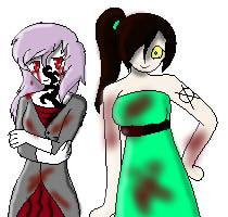 Ms. CreepyVerse and Hazel Hacker by mrscreepyverse