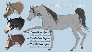 500 pts Arabian Lineart - With 15 premade eyes by BH-Stables
