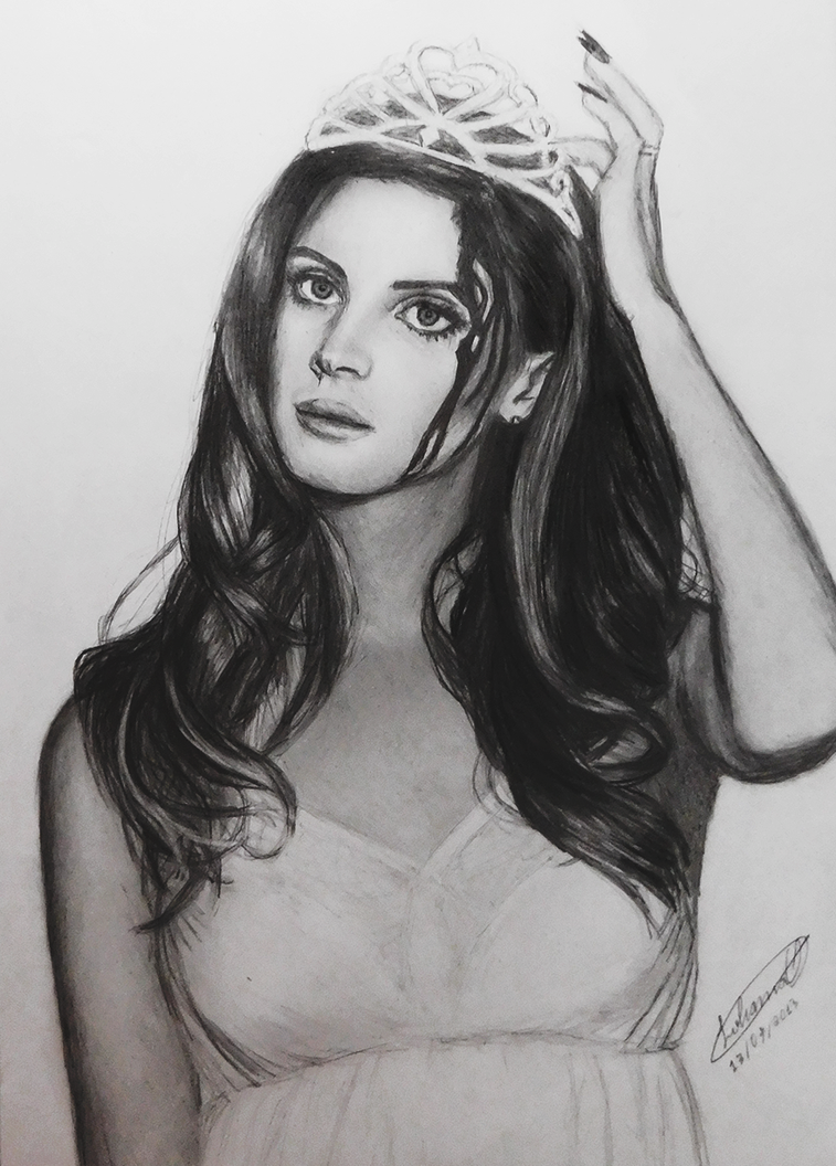 Lana Del Rey Old Drawing by lohannaOliveira