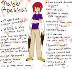 Mabel-Charcter Page by RedAutumnAngel