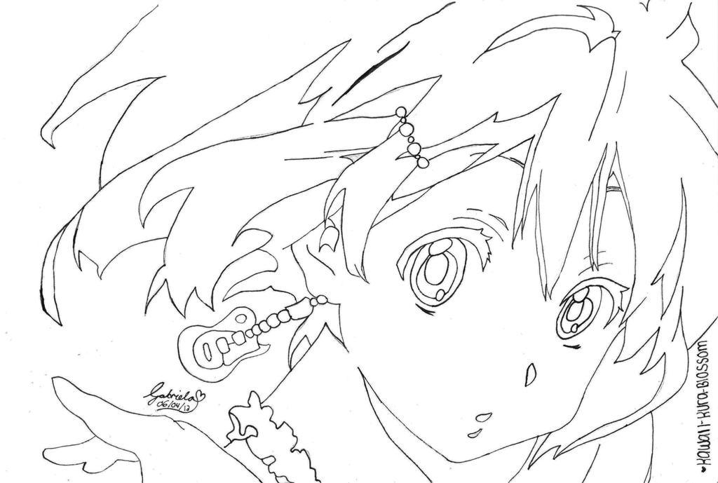 Line Art Hirasawa Yui : Yui hirasawa lineart by kawaii kura blossom on deviantart