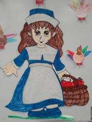 Blue Pilgrim Girl