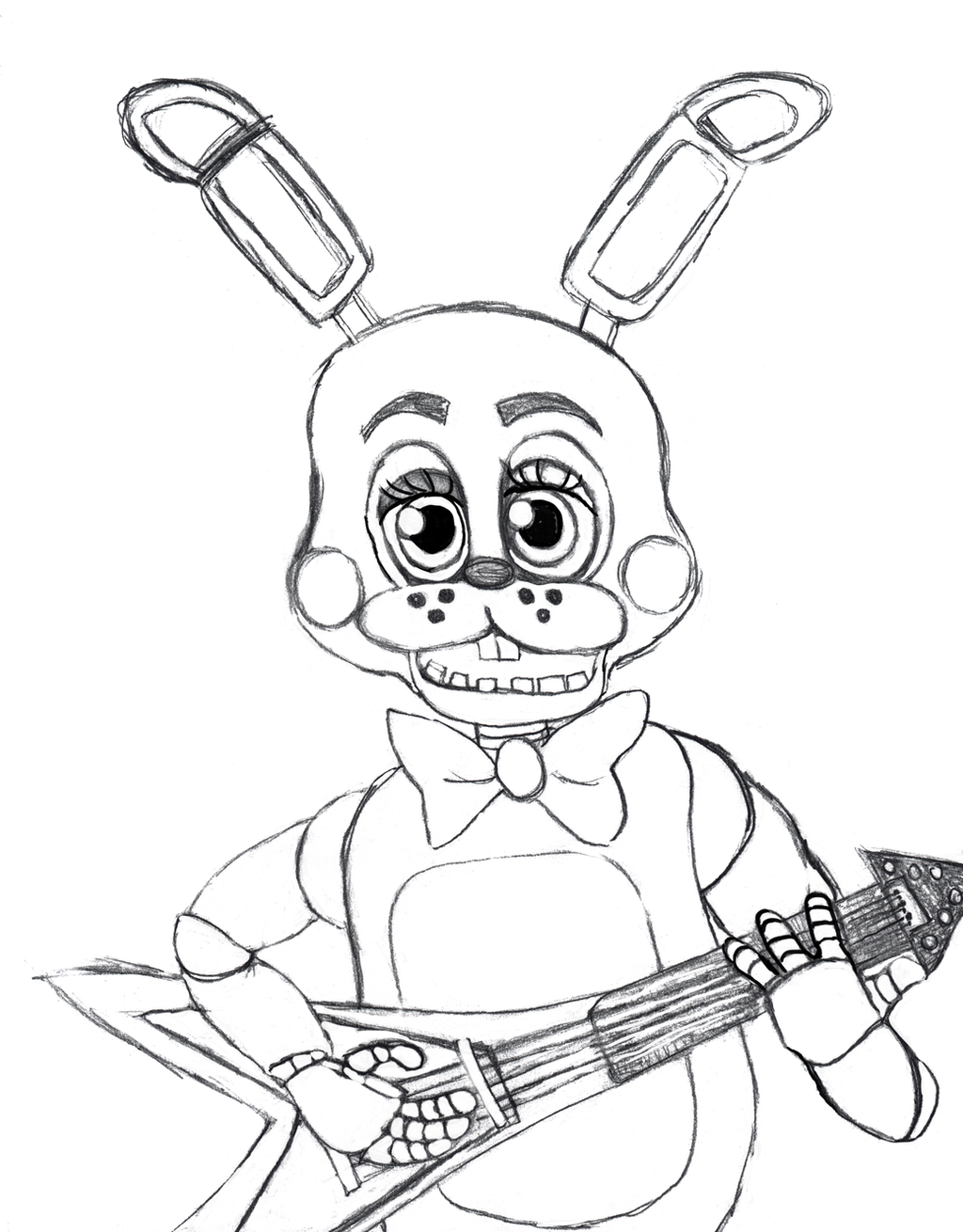 toy bonnie coloring pages - toy bonnie from five nights at freddy 39 s 2 by bunny gypsy