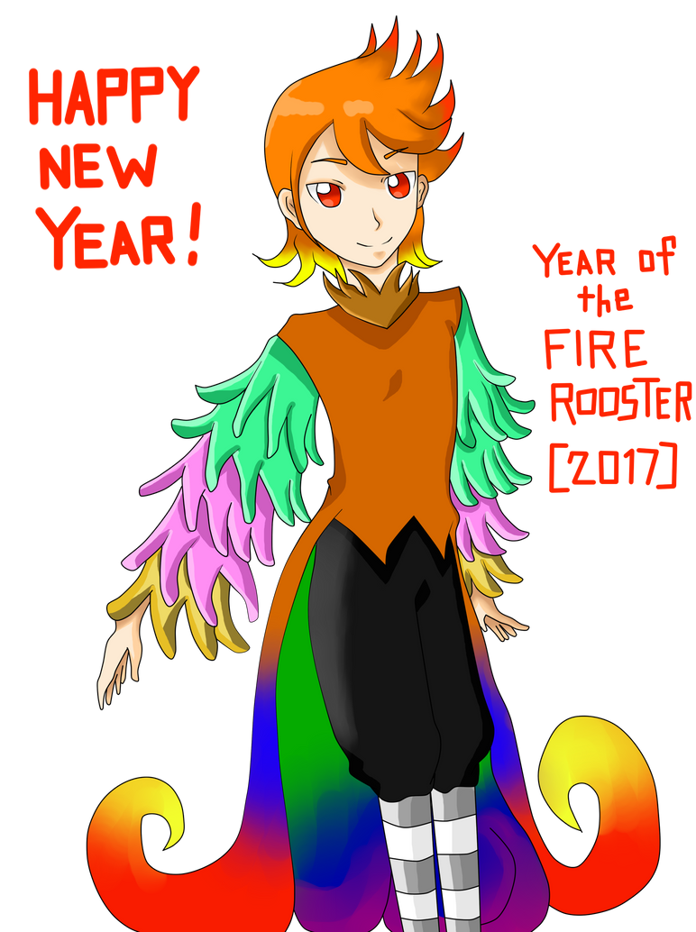 Happy New Year Greetings From Mr Rooster By Enakun110499 On Deviantart