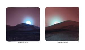 Martian Sunrise and Sunset