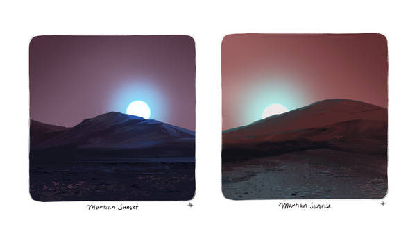 Martian Sunrise and Sunset