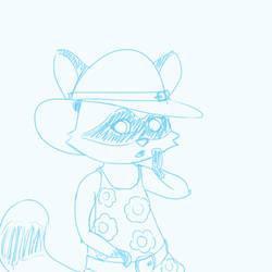 raccoon doodle by eanbowman