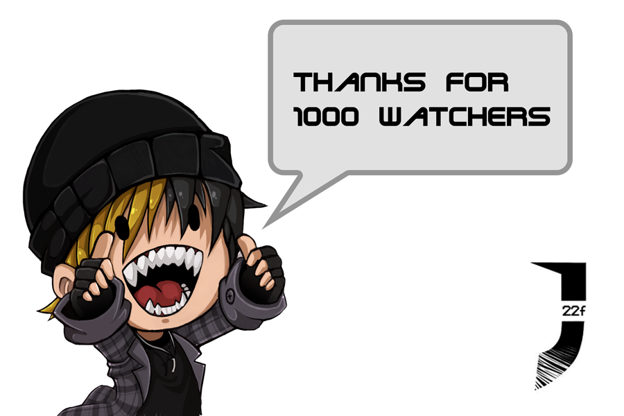 1000 watchers thanks by julif-art
