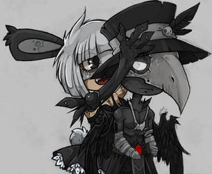 bunny and nero chibi by julif-art