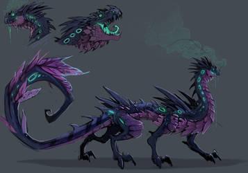 dragon venenoso by julif-art
