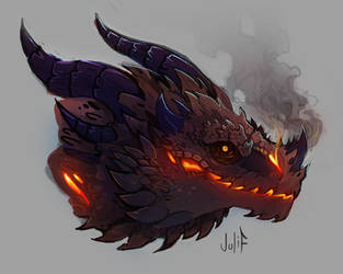 dragon head by julif-art