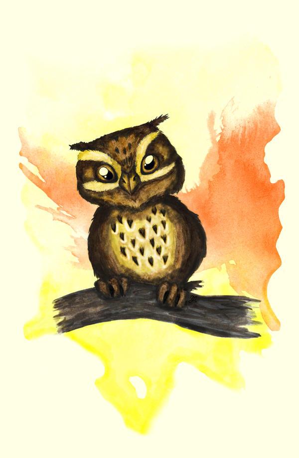 Cute owl. by MariAnrua