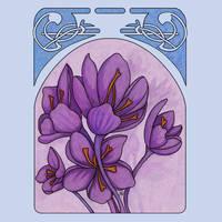 Art nouveau. Saffron. by MariAnrua