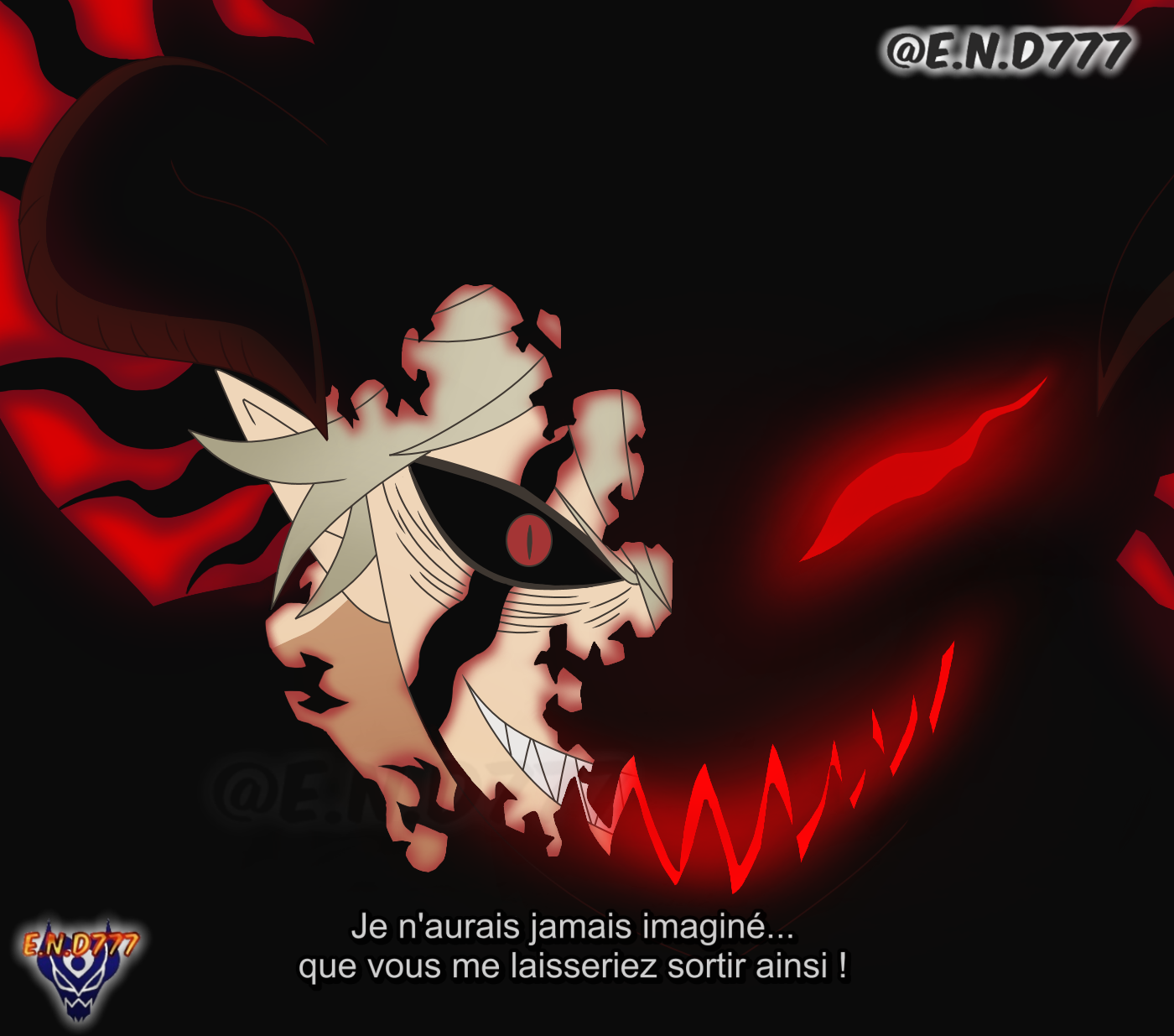 Black Clover 266 Asta S Demon Liberation By End7777 On Deviantart