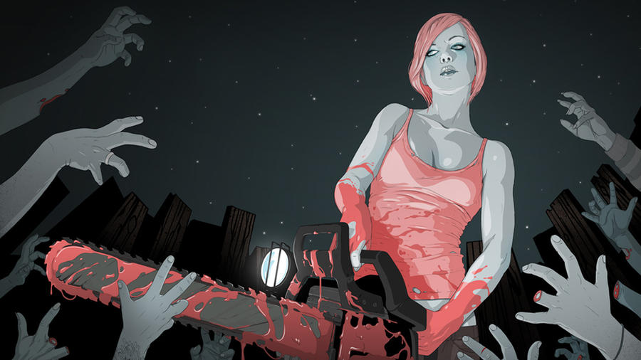 1366x768 Series Zombie Kill by rozidik