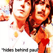 hiding behind paul. by americanfallout