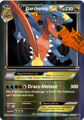 Mega Garchomp Ex Card | Car Interior Design
