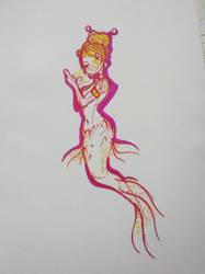 Freckled Mermaid by PinkLemonSquish