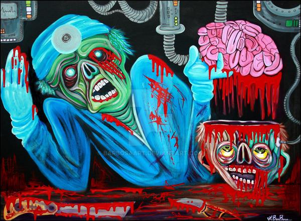 Zombie Brain Surgeon by barbosaart