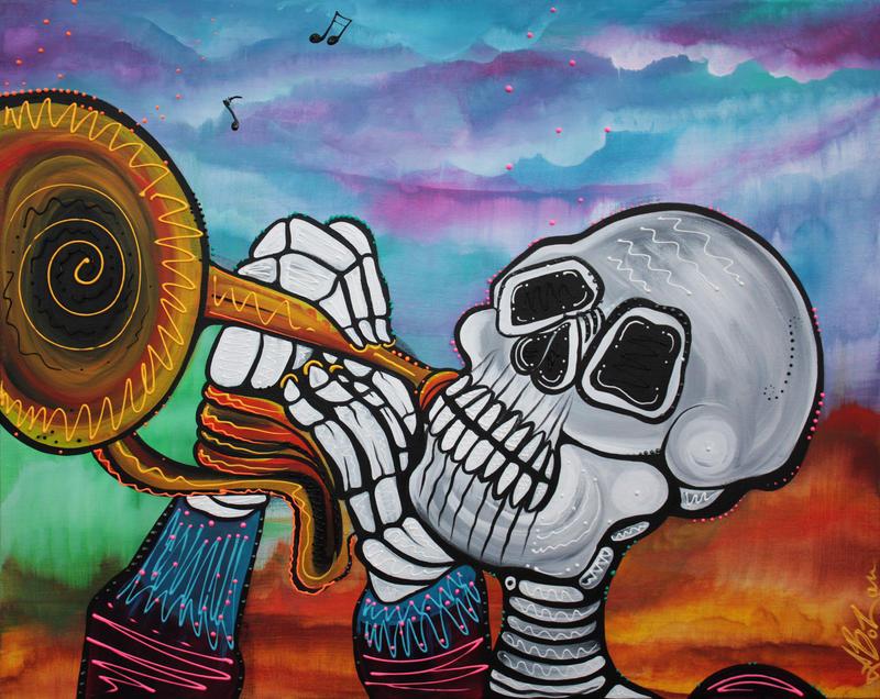 Skeleton Serenade by barbosaart