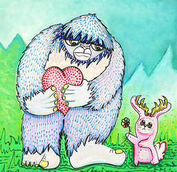 The Bigfoot and The Jackalope by barbosaart