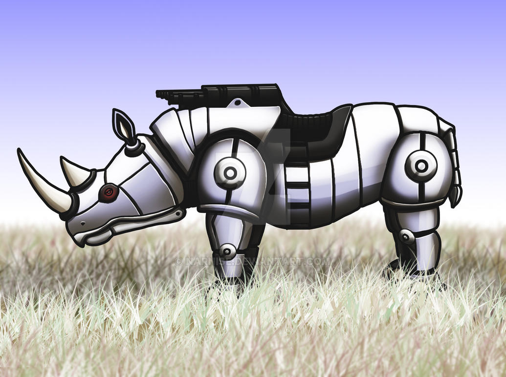 March of Robots #17: Rhinobot by Narnise