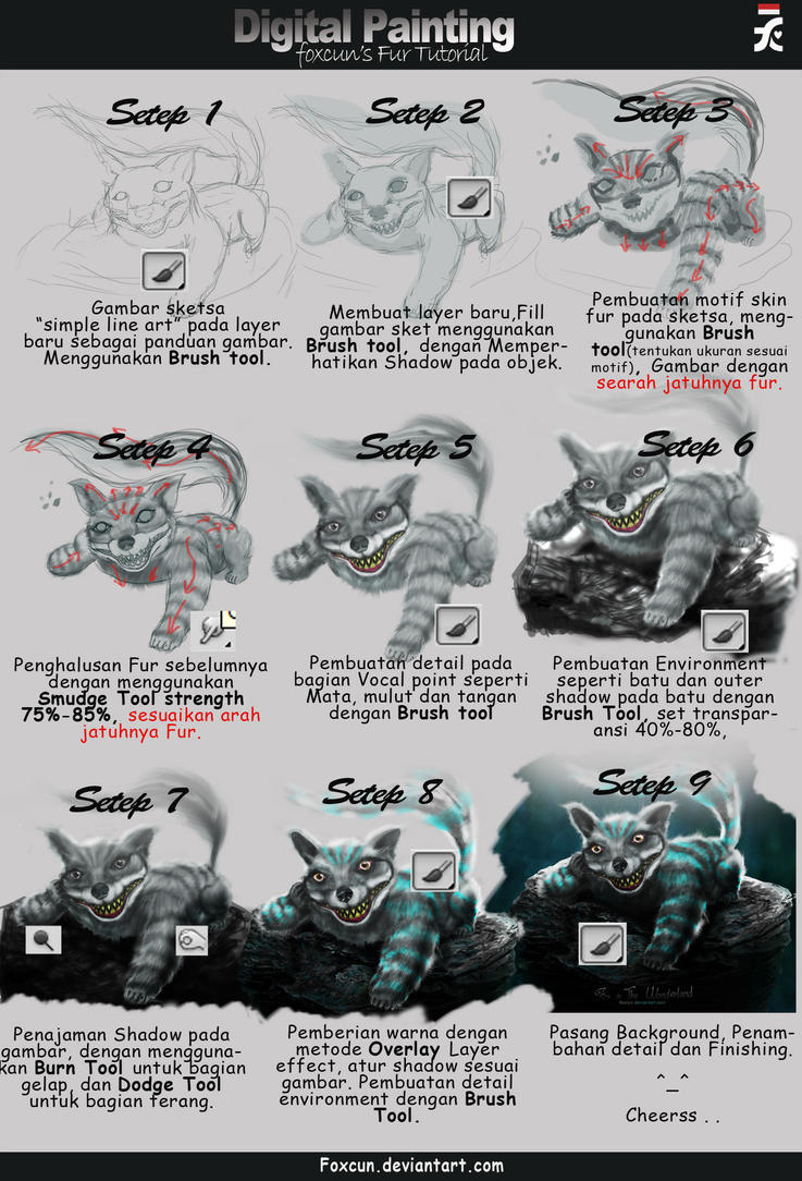 Tutorial digital painting fur photoshop by foxcun on deviantart tutorial digital painting fur photoshop by foxcun baditri Image collections