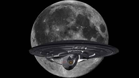 Enterprise E and the Moon