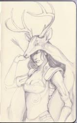 Deer Hunter Sketch