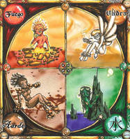 The Four Elements. by Lani-San