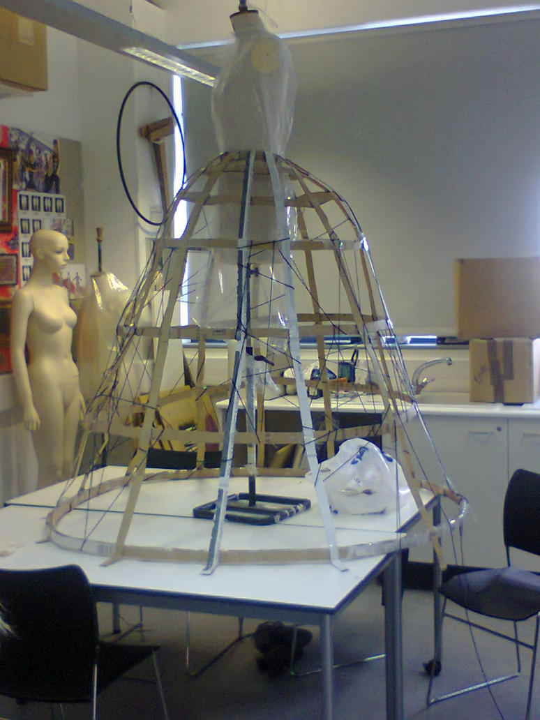 how to make a dress cage