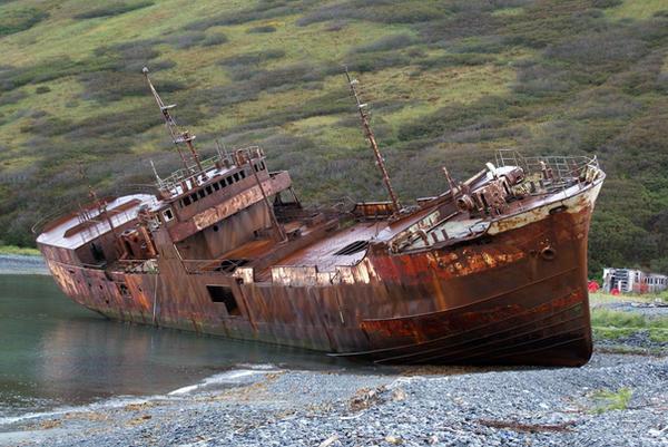 Rusty Shipwreck in Russia by lomapatta-stock